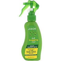 Натуральный спрей-репеллент от насекомых Jason Natural, Quit Bugging Me!, 133 мл