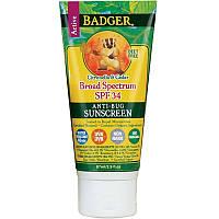 Крем от солнца и насекомых Badger Company, SPF 34 и реппелент от насекомых, 87 мл