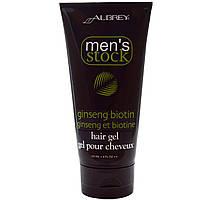 Aubrey Organics, Мужской набор, гель для волос, с биотином и женьшенем, 6 жидких унций (177 мл)