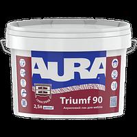 Водоразбавимый лак для мебели AURA Triumf 90, 2,5л, глянцевый