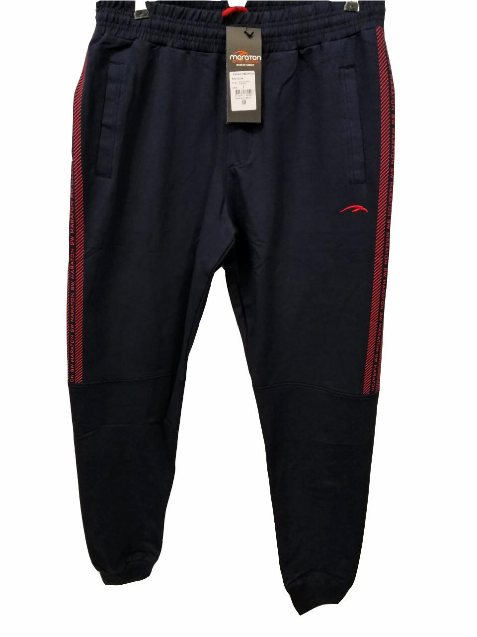 Брюки мужские трикотажные Maraton модель 7830 спортивные штаны на манжетах Маратон производство Турция