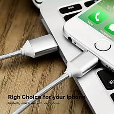 Mantis магнитный кабель Lightning для iPhone. Серебристый. Лучшее качество!, фото 3
