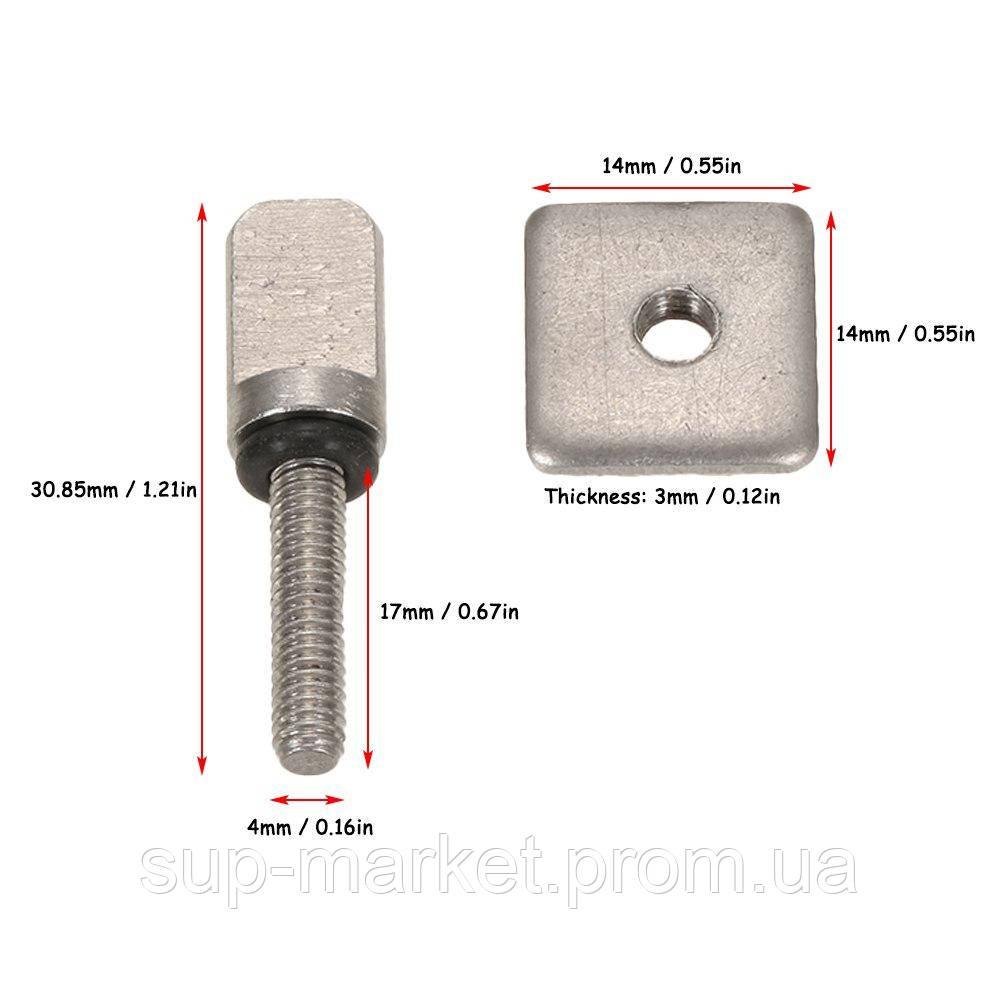 Винт с квадратной гайкой для крепления плавника US FinBox (сталь)
