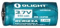 Аккуммуляторная Батарея Olight Rcr123А Li-Ion 3.7V 650 Mah (Orb2-163P06)