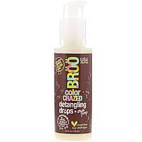 BRoo, Color Crazed Detangling Drops, для облегчения расчесывания, киноа, колада, 4 ж. унц. (118 мл)