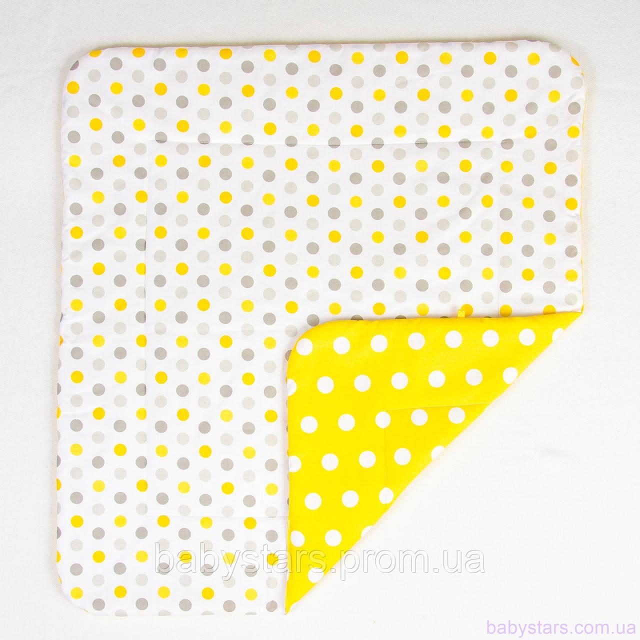 """Детское хлопковое одеяло 80х85 см, """"Солнышко"""" цвет желтый"""