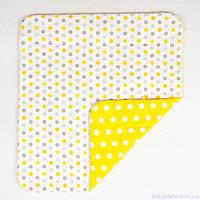 """Детское хлопковое одеяло 80х85 см, """"Солнышко"""" цвет желтый, фото 1"""
