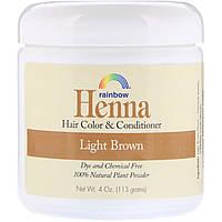 Rainbow Research, Хна, 100% растительная краска для волос и кондиционер, персидский светло-коричневый, порошок 4 унции (113 г)
