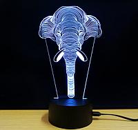 "Ночник 3D ""Слон"""