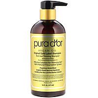 Pura D'or, Шампунь от выпадения волос, 473 мл