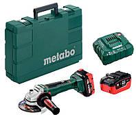 Аккумуляторная болгарка Metabo WB 18 LTX BL 125 Quick + 2 × LiHD 18 V 5.5 Ah + ASC 30-36 V + кейс (613077660)