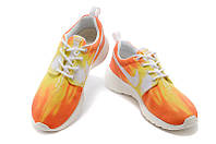 Женские кроссовки Nike Roshe Run Print orange, фото 1