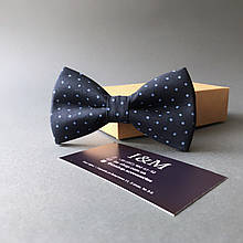Галстук-бабочка I&M Craft синий в горошек (010516)