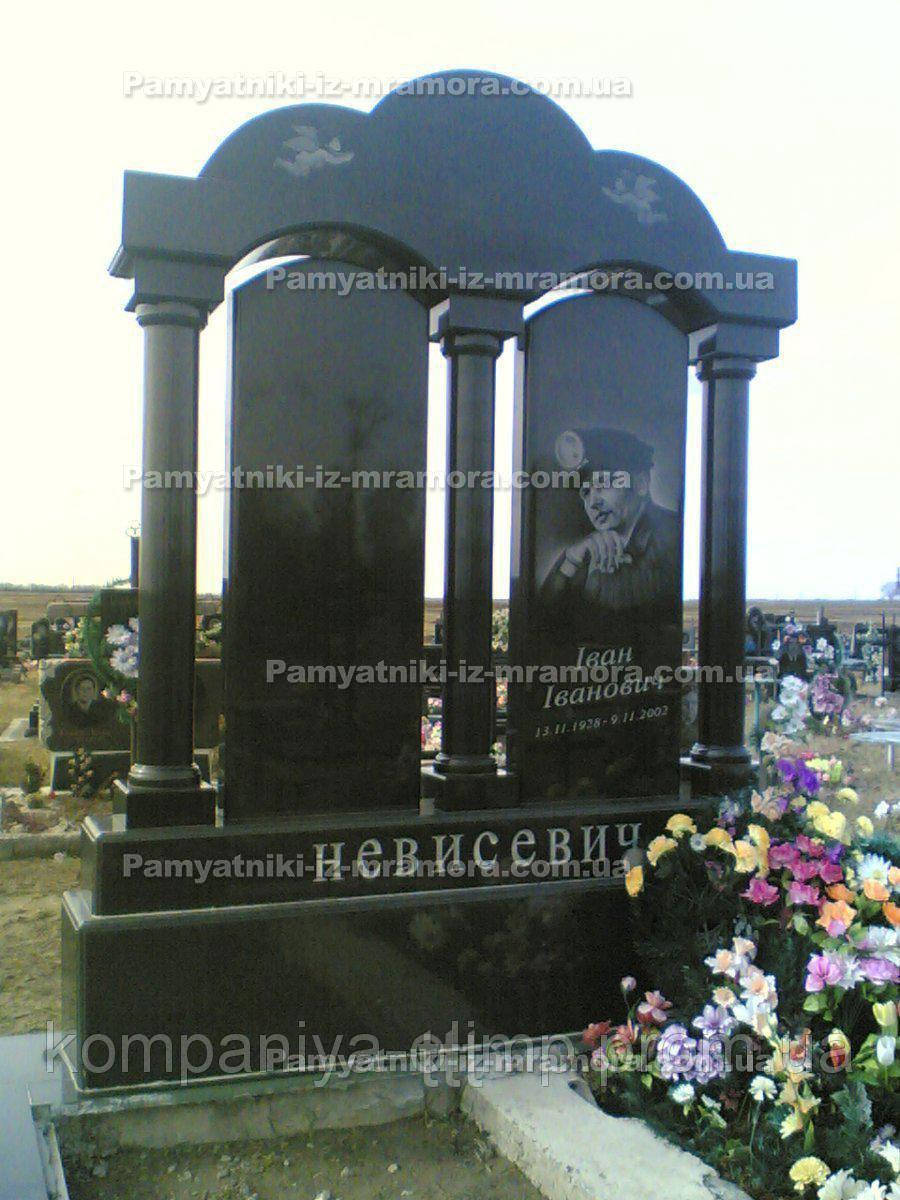 Памятник для двоих с колоннами № 22