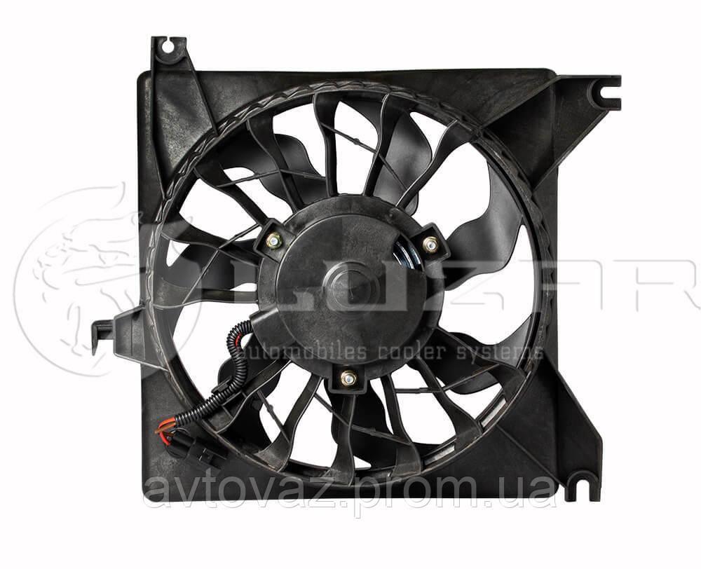 Вентилятор радиатора, мотор охлаждения ВАЗ 2190 Гранта (LFc 0190) ЛУЗАР