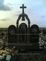 Двойное надгробие с крестом и колоколом № 26