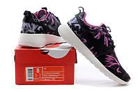 Женские кроссовки Nike Roshe Run Print black-pink, фото 1