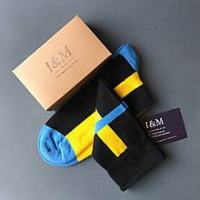 Носки I&M Craft черные с желтым и синим (070192)