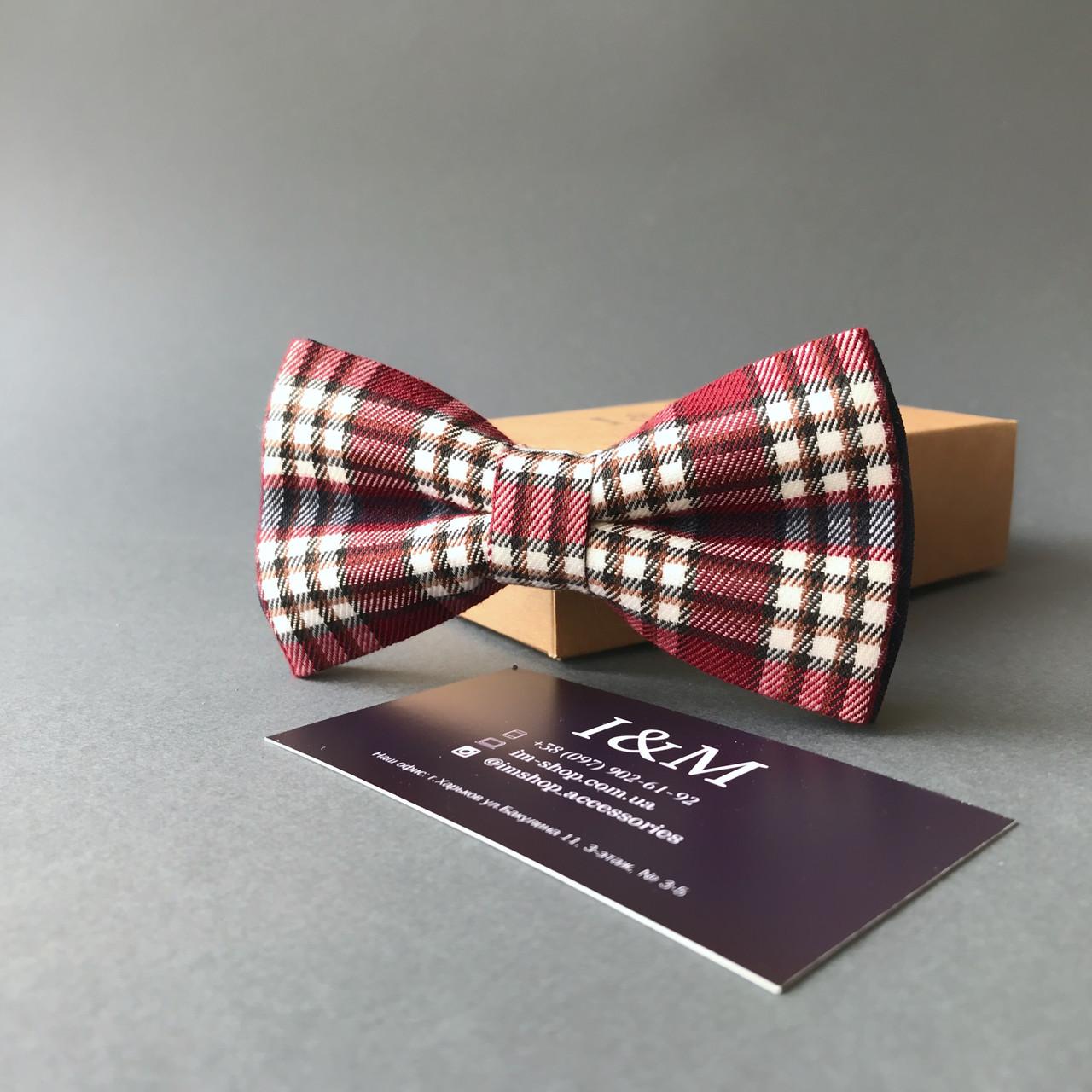 Краватка-метелик I&M Craft в клітку (00007)