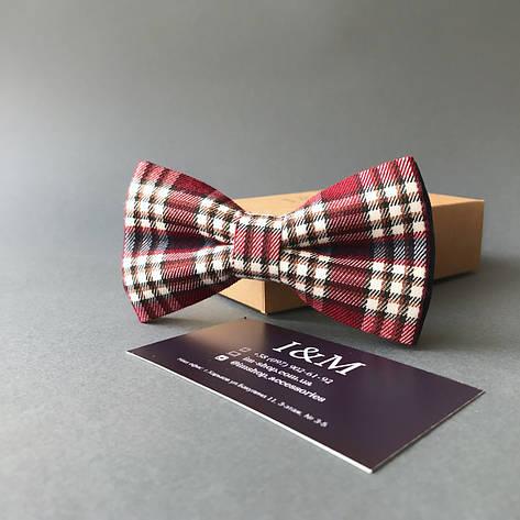 Краватка-метелик I&M Craft в клітку (00007), фото 2