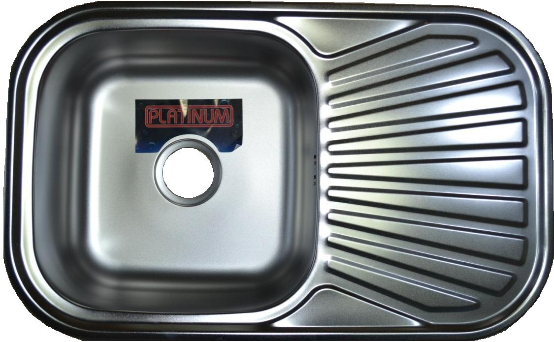 Кухонная стальная мойка Platinum 7848 Satin 0,8мм