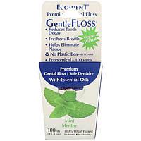 Зубная Нить, Eco-Dent, GentleFloss, мята, 91 м
