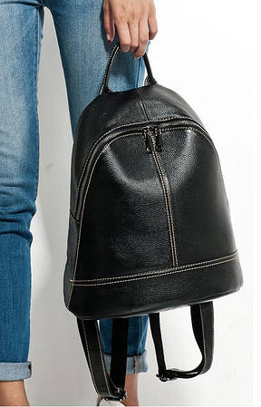 Жіночий шкіряний рюкзак міський. Модний рюкзак жіночий (чорний)