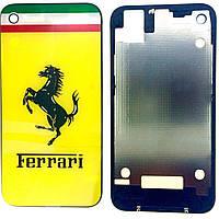 Крышка задняя Iphone 4S Yellow FERRARI Original qwality
