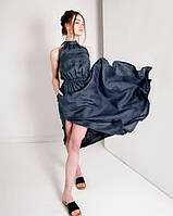 Воздушное легкое платье из натурального льна, полированного, цвет на выбор , размер до 56, фото 1