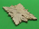 Деревянный резной декор для мебели. Розетка. Код Р12, фото 6