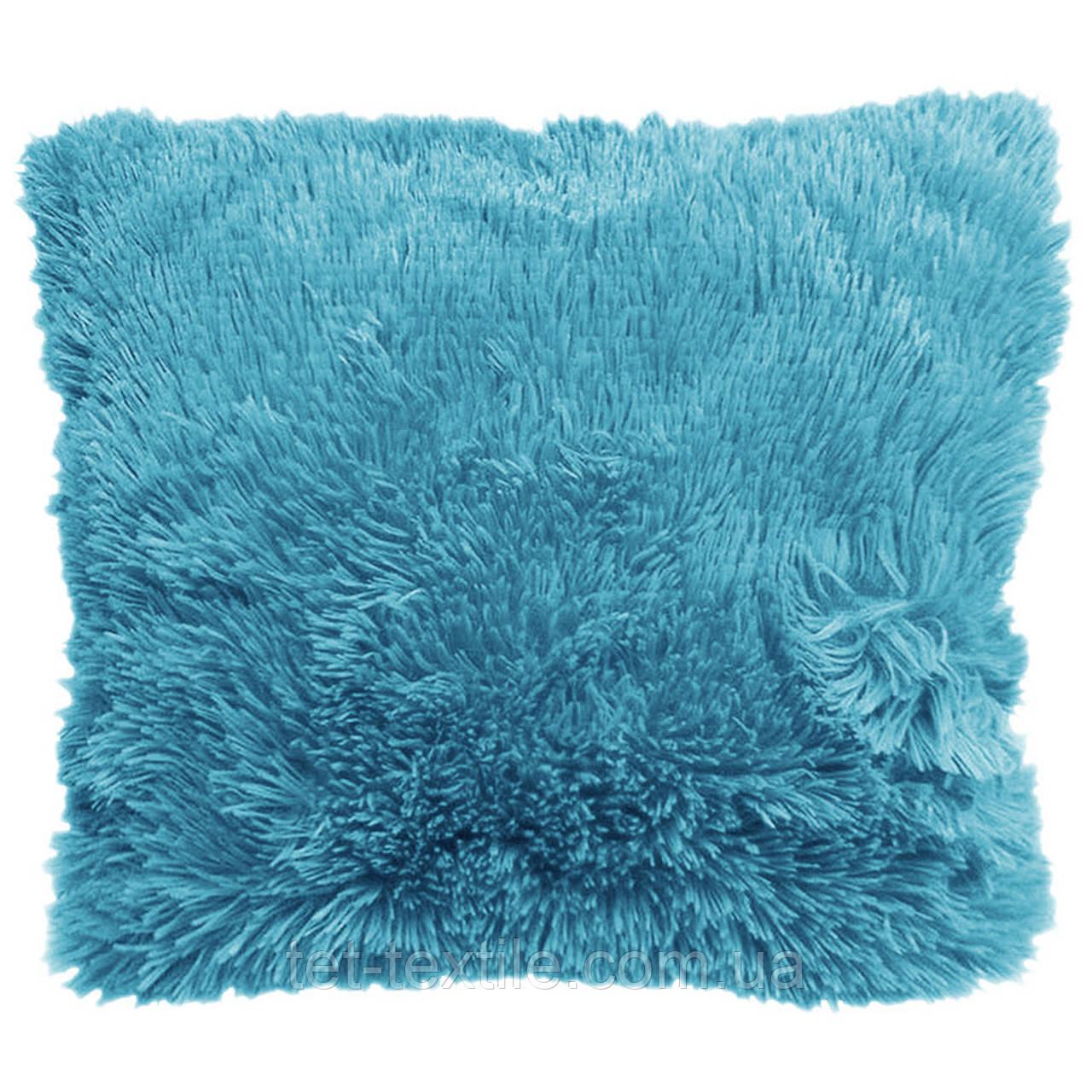 Наволочка с длинным ворсом, голубая (40х40)