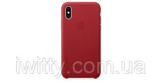 Чехол для  Apple iPhone Xs - Leather Case - (PRODUCT)RED (MRWK2)