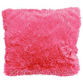 Наволочка с длинным ворсом, розовая (40х40)