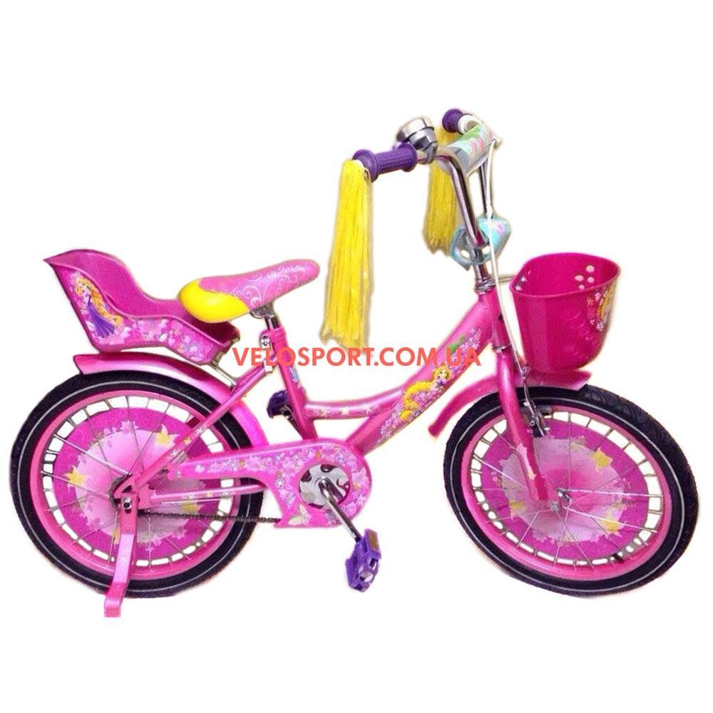 Детский велосипед Azimut Girls 18 дюймов розовый