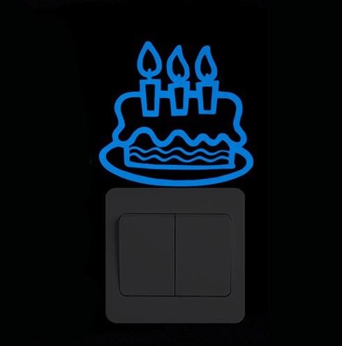 """Наклейка люминесцентная """"Торт"""" - 10*10см"""