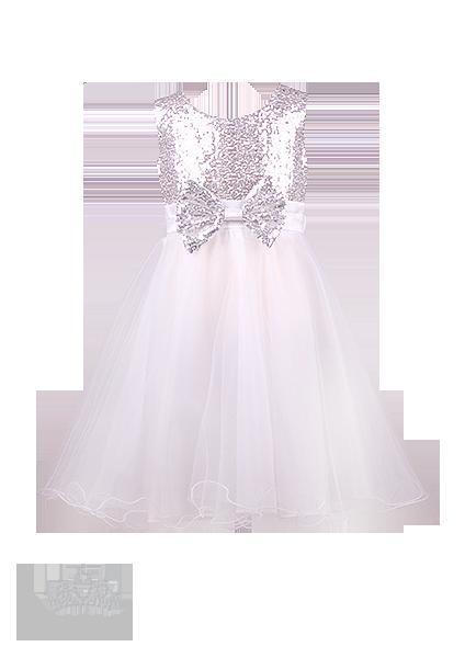 Красивое вечернее белое   платье  для маленькой принцессы