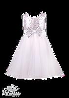 Красивое вечернее белое   платье  для маленькой принцессы, фото 1