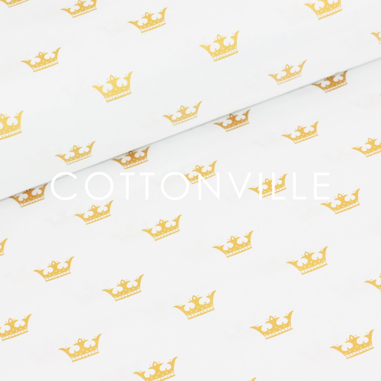 ✁ Отрез бязи Золотистые короны 100х80 см