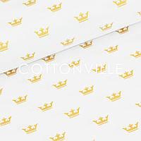 ✁ Отрез бязи Золотистые короны 100х80 см, фото 1