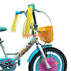 Детский велосипед Azimut Girls 18 дюймов бирюзовый, фото 2