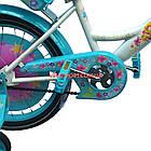 Детский велосипед Azimut Girls 18 дюймов бирюзовый, фото 5