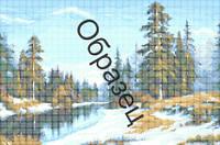 Схема для вышивки бисером «Весенний пейзаж»