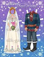 Кукла из фетра - frozen - 9 Формат А4 - 19см x 28см