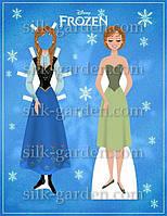 Кукла из фетра - frozen - 12 Формат А4 - 19см x 28см