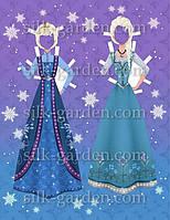 Кукла из фетра - frozen - 17 Формат А4 - 19см x 28см