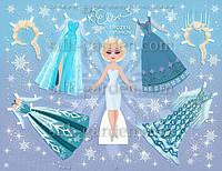 Кукла из фетра - frozen - 22 Формат А4 - 19см x 28см