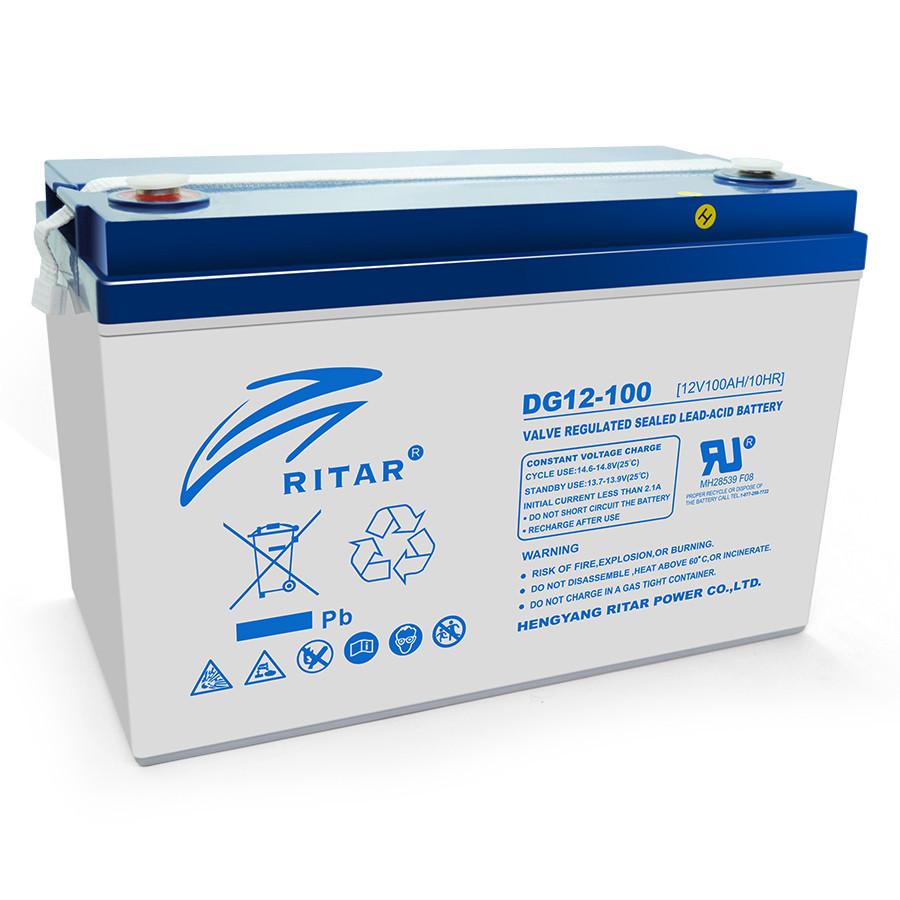 Аккумулятор гелевый (GEL) RITAR DG12-100, Gray Case, 12V 100.0Ah