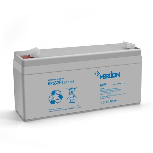 Аккумулятор AGM MERLION GP632F1 6 V 3,2AH