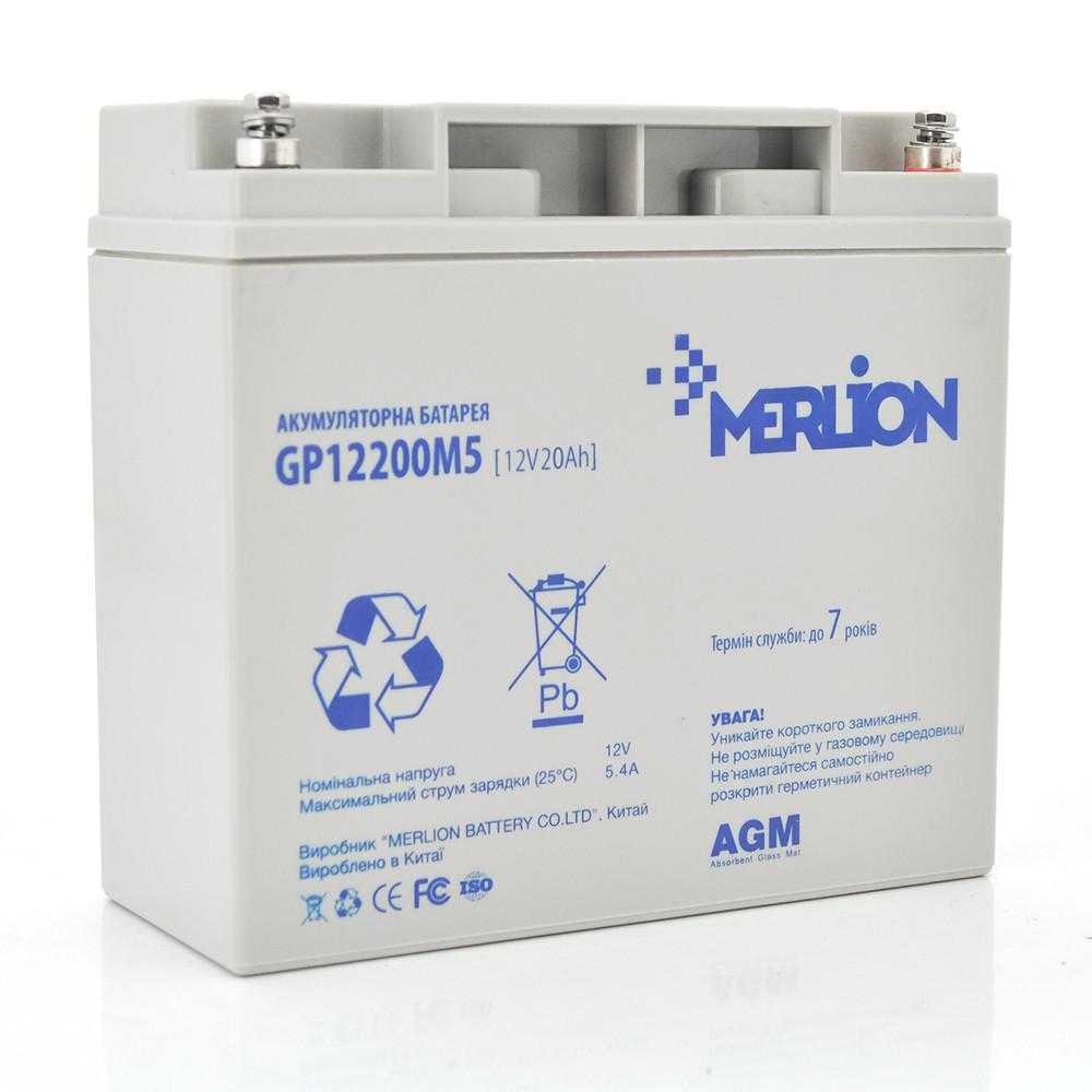 Аккумулятор AGM MERLION GP1220M5 12V 20AH