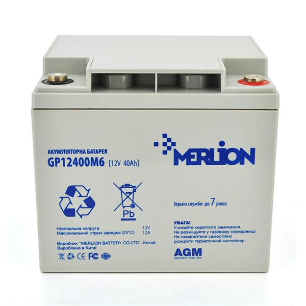 Аккумулятор AGM MERLION GP1240M6 12 V 40AH